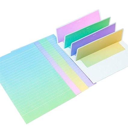 Depory - Juego de 4 sobres de papel para escribir sobre y ...