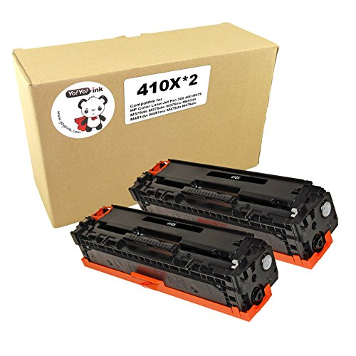 YoYoInk Remanufactured Laser Toner Cartridges Replacement for HP 305X High Yield CE410X, 2 Pack (2 Black)
