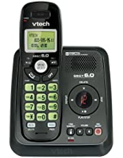 Vtech Dect 6.0 Handset Cordless Phone System with Digital Answering Machine and Green Backlit Keypad