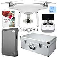 DJI Phantom 4 Pro Plus Drone with Deluxe Controller, Custom Case, 2TB Fly Drive Kit