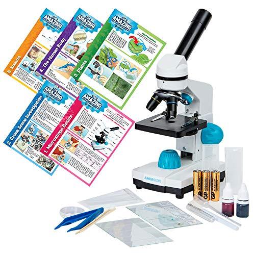 Omano JuniorScope Microscope for Kids Microscope Science Kits for Kids Science Experiment Kits