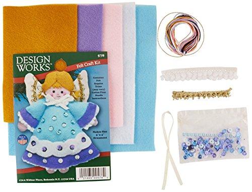 Tobin Angel Blue Ornament Felt Applique Kit-3