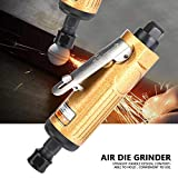 """Air Die Grinder, 25000rpm High Speed Metal Straight Shank Pneumatic Grinders Pneumatic Polishing Engraving Tool with 1/4"""" and 1/8"""" Collet Spanner Wrench for Grinding, Trimming and Shaping"""