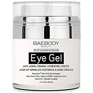 Baebody Eye Gel for Dark Circles, Puffiness, Wrinkles and Bags - The Most Effective Anti-Aging Eye Gel for Under and Around Eyes - 1.7 fl. oz.
