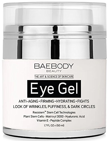 Baebody Eye Gel for Dark Circles, Puffiness, Wrinkles and Bags - The Most Effective Anti-Aging Eye Gel for Under and Around Eyes. - 1.7 fl. (Bright Side Bag)