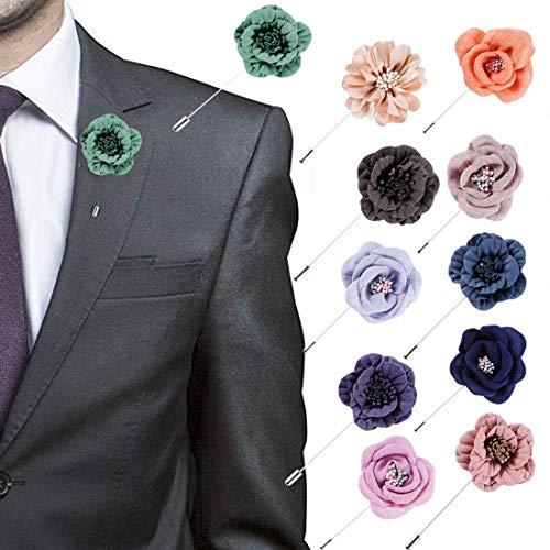 Amazon.com: 20 broches de flor con pines de solapa, broche ...