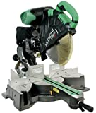 Hitachi C12RSH 15 Amp 12-Inch Sliding Compound Miter Saw with Laser