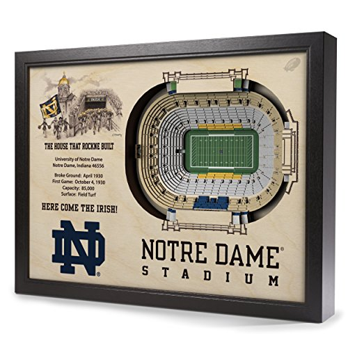 Sportula NCAA Notre Dame Fighting Irish 25-Layer StadiumView 3D Wall Art