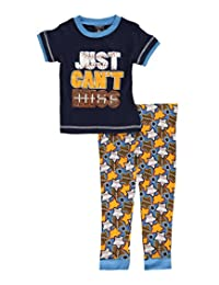"Mac Henry Little Boys' ""Just Can't Miss"" 2-Piece Pajamas"