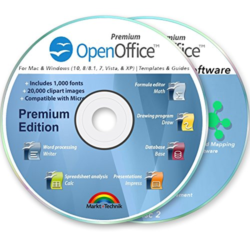 Office Suite 2018 Professional for MS Windows PC & Mac Home Student Business Software Compatible with Microsoft Word Excel Disk 2 DVD Set by OpenOffice
