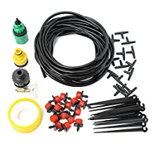 Doitb 10m Hose Micro Drip Irrigation Sprinkler System Kit Garden Greenhouse Landscaping Plant Tubing Watering Drip Kit Accessories