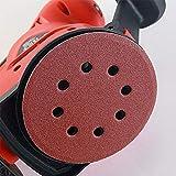 VINAUO 160pcs Orbital Sandpaper Sanding Discs 20pcs Each 40 80 100 120 150 180 & 10pcs Each 240 320 400 600 Grit Assorted Sanding Paper Hook and Loop 5 Inches 8 Hole for Circular Sander Grits Sanding