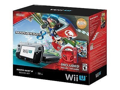Nintendo Wii U Console Mario Kart 8 Deluxe Set with 32 GB Storage – Black