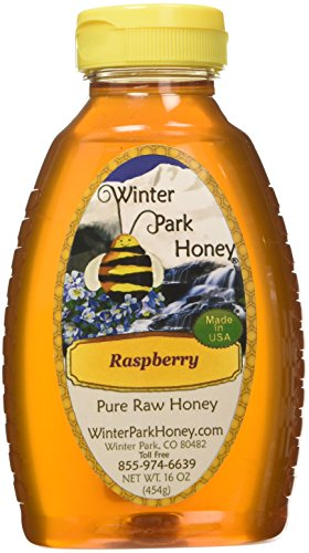 Raw Raspberry Honey 16oz (Pure Natural Honey)