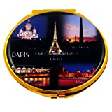 Souvenirs of France - 'Paris by Night' Double Handbag Mirror