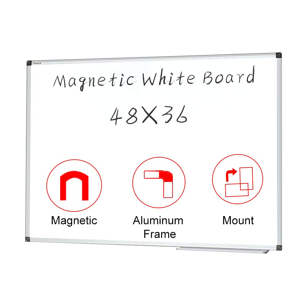 Magnetic White Board 48x36 inches Dry Erase Board