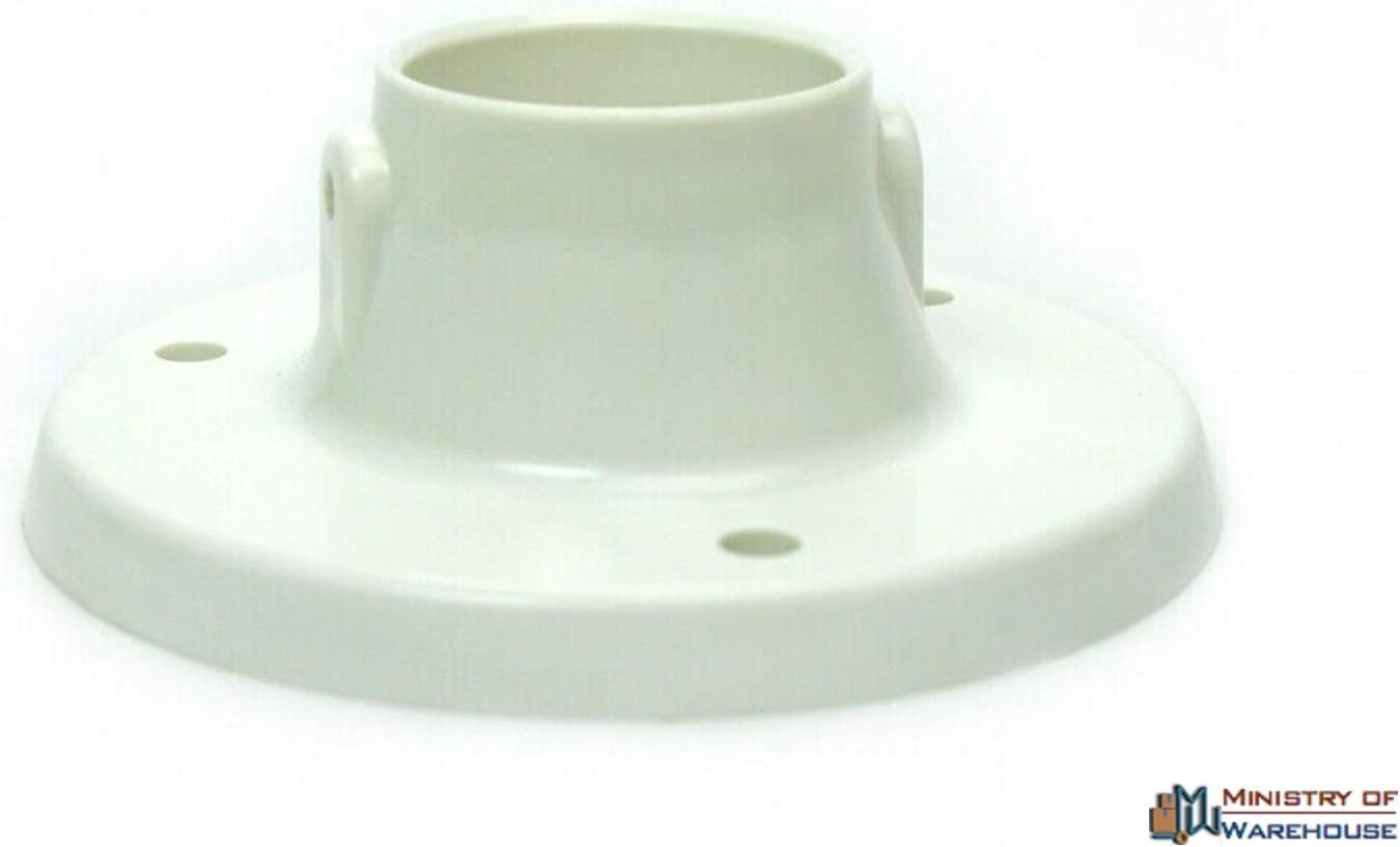 Pack of 2 Deck Flanges to Mount for Above Ground Swimming Pool Ladder Plastic