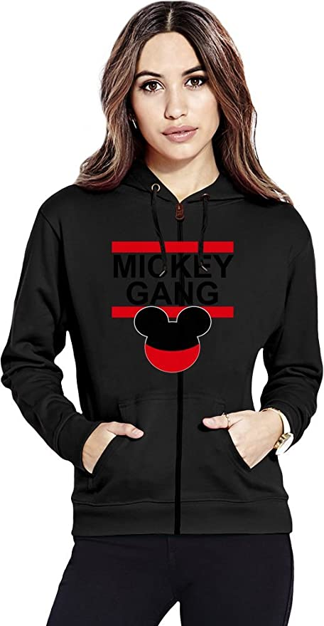Mickey Gang Hipster TUMBLR Womens Zipper Hoodie: Amazon.es: Ropa y accesorios