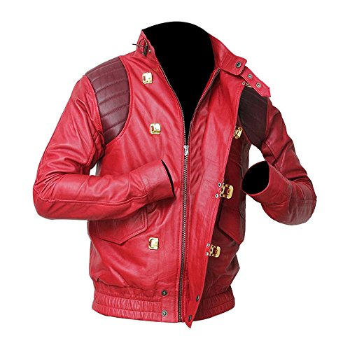 Faux Classic amp; Leather Red Jacket Kaneda Fashion Real Akira Logo Capsule Leather zp8dfw8q