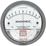 "Dwyer Magnehelic Series 2000 Differential Pressure Gauge, Range 5-0-5""WC"