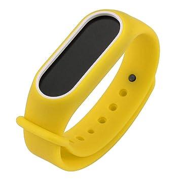 ... ☀️Modaworld Pulsera para Xiaomi 2 Correa de Reloj Elegante Reemplazo de Bandas Correa de Repuesto para MiBand2 (Amarillo): Amazon.es: Deportes y aire ...