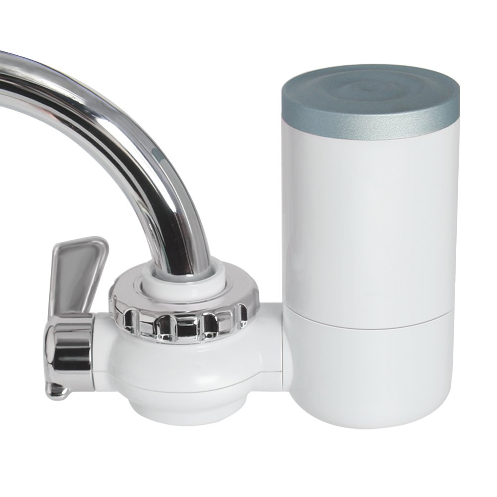 Faucet Water Filter, 8 Stage Water Filtration Faucet Mount, 7 Different Kinds of Interfaces, Suitable for Most Faucets, Easy to Install, 0.46gal/min/100kpa Large Filtration Discharge System Dumb Blue