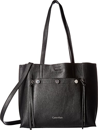 Jet Link - Calvin Klein Women's Unlined Jet Link Tote Black/Grey One Size