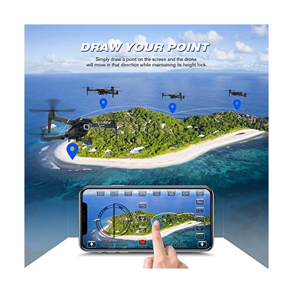 EACHINE E520 Drone 4K Telecamera 2.4GHz Pieghevole Drone con WiFi FPV App Mobile Controllo Grandangolare 4 spesavip