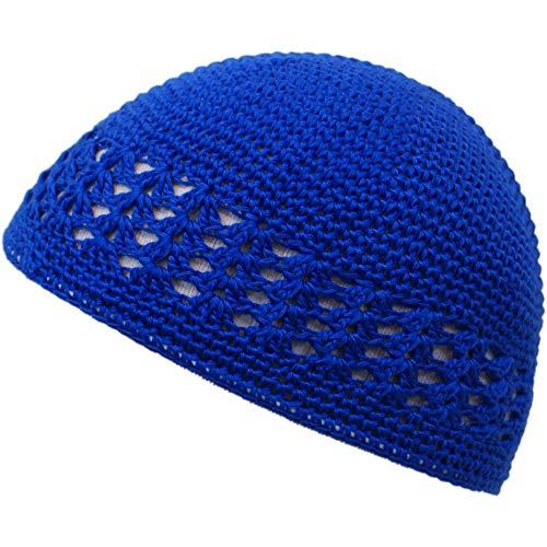 (Shoe String King SSK Knit Kufi Hat - Koopy Cap - Crochet Beanie (Royal Blue))