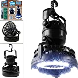 2-in-1 Multifunctional 18 LEDs Camping Light with Ceiling Fan, Emergency Camping Lantern Flashlights for Outdoor Hiking, Camping supplies, Hurricanes, outages