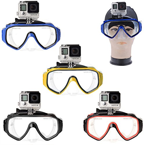 GooKit® Black Scuba Diving Glasses Swim Face Mask Snorkel Mount for GoPro Hero 2 3 3+ 4