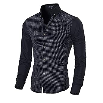 a2913e3c4b Camisa Masculina Men S Casual Long Sleeve Printingcasual Shirt Slim Fit Men  Shirts Camisa Social Masculina  Amazon.in  Clothing   Accessories