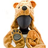 Polar Bear Hat Animal Costume with Soft Plush (Brown)