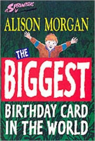 Biggest Birthday Card In The World Sprinters Morgan Alison
