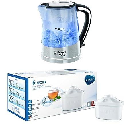 Russell Hobbs Plastic Brita Filter Purity Kettle 22851, 3000 W, 1 L - Transparent 4008496856343