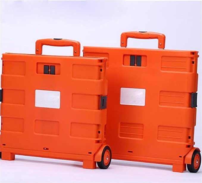 Amazon.com: HCC& Trolley Dolly Portable Multifunction Shopping Cart High Capacity Can Sit Grocery Foldable Cart, Orange: Sports & Outdoors