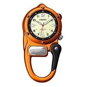 Dakota MiniClip Microlight LED Clip Watch - Orange