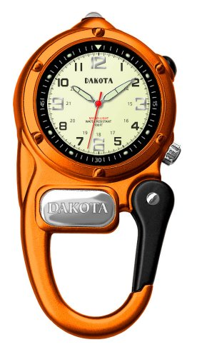 Dakota Mini Clip Microlight Carabiner Watch Orange