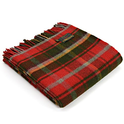Tweedmill Textiles 100% Pure Wool Blanket Canadian Maple Leaf Tartan Pattern MADE IN UK (Canadian Wool)