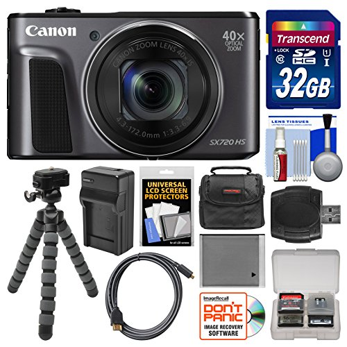 Canon PowerShot SX720 HS Wi-Fi Digital Camera with 32GB Card + Case + Battery & Charger + Flex Tripod + Kit by Canon (Image #9)