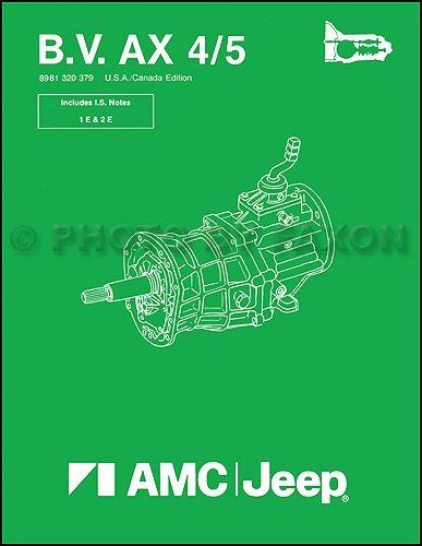 1984-1987 Jeep Manual Transmission Overhaul Reprint BV AX 4/5 Cherokee Wagoneer Comanche