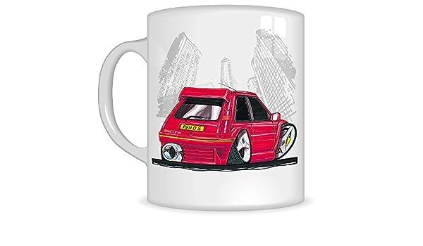 Taza con asa, diseño con caricatura de Renault GT Turbo, de Koolart Gifts, K217-MG: Amazon.es: Coche y moto