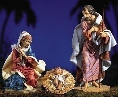 Three Piece Holy Family Nativity - Nativity Fontanini Outdoor