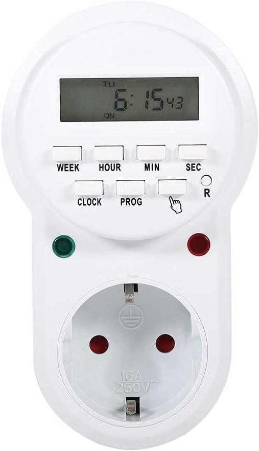 Prise de commutateur /électronique num/érique Prise de Base de Support de Lampe Zetiling Prise de minuterie programmable Contr/ôleur de Prise de minuterie programmable 1#