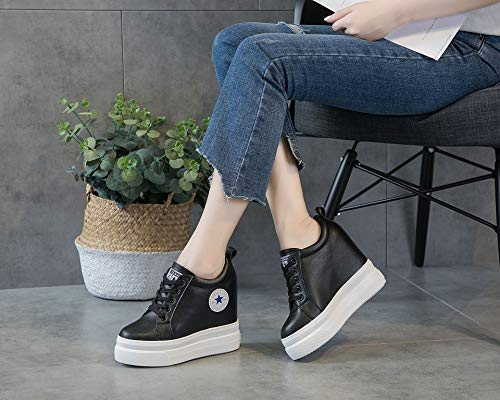 Chaussures huit Augment Kphy paisses leather Sponge Sauvage Leisure Trente Noir Fond Cake L'intrieur S7SZFUq