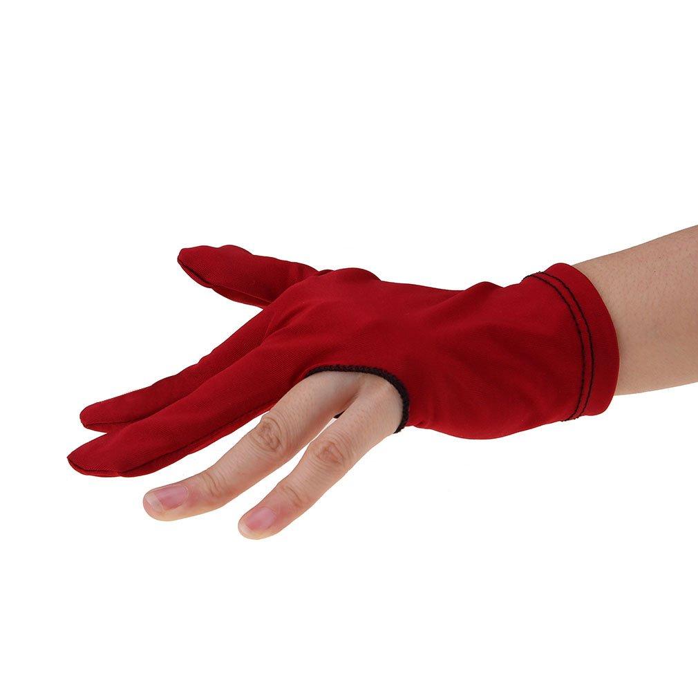 uxcellNylon Pool Cue Stick Shooter Billiard 3 Fingers Gloves 6 Pairs Black