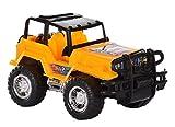 Leo Toys Jeep, Yellow and Black (12 cm x 10 cm x 10 cm)