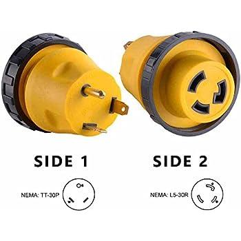 Superior Electric RVA1513L 30 Amp Male NEMA TT-30P to 30