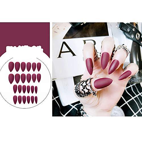 Amazon.com: 24 uñas postizas de diferentes tamaños, color ...