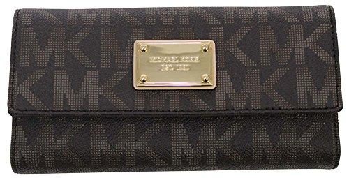 9dc538c6ba3b Michael Kors Jet Set Item PVC Checkbook Wallet. by michael kors. Color:  Brown